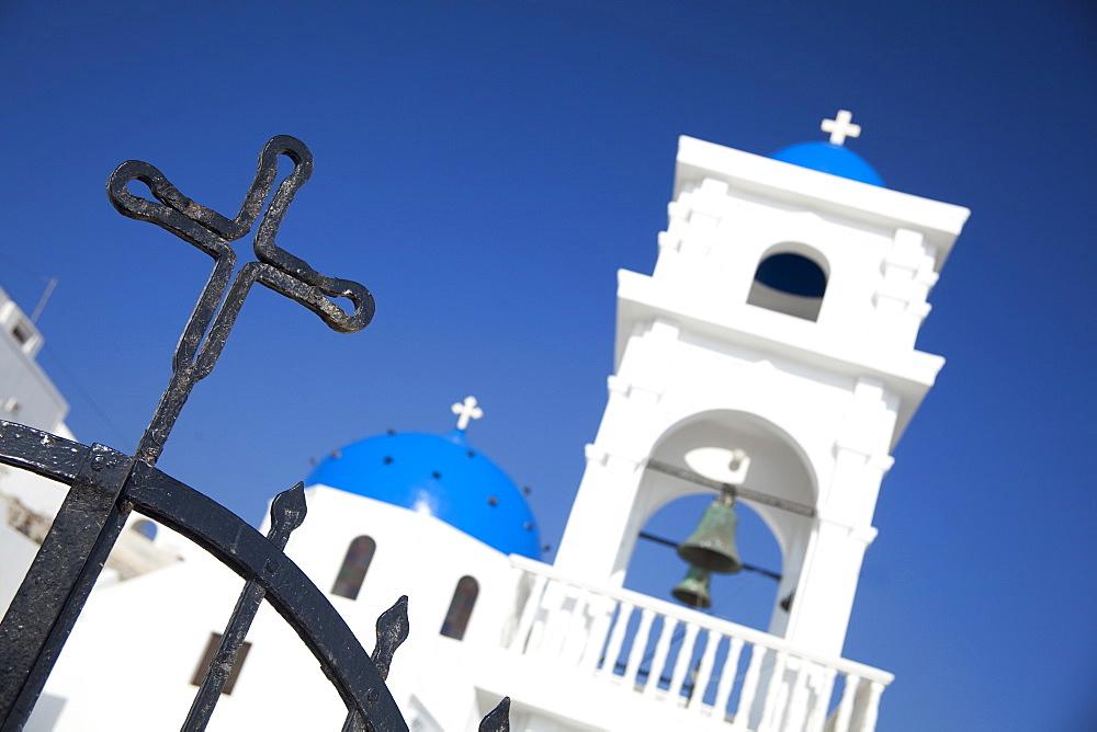 Church against clear sky in Greece