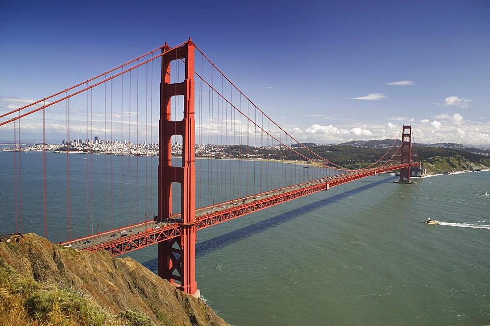 Panorama of Golden Gate Bridge San Francisco California USA