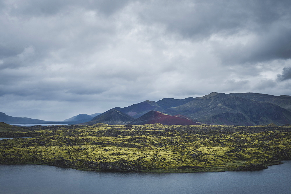 Mountains by sea in Snufellsnes, Iceland