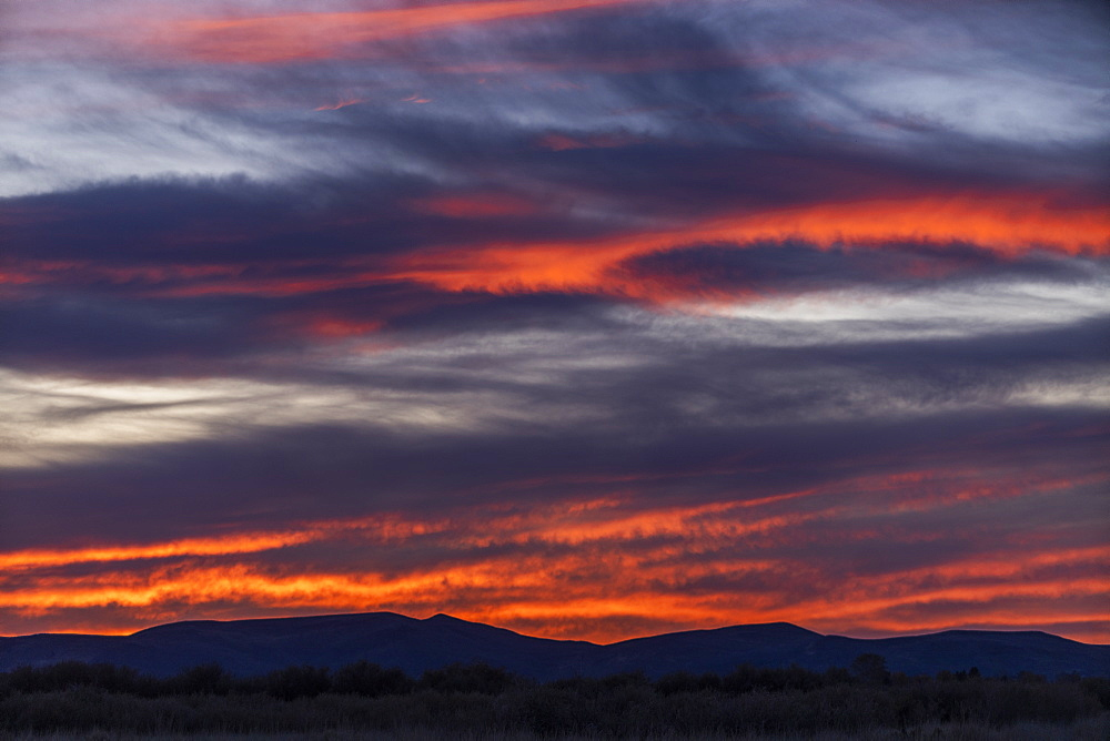 Sunset over Boise Foothills in Boise, Idaho, United States of America
