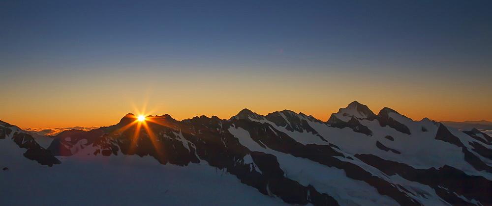 Bernese Oberland at sunrise in Canton of Bern, Switzerland