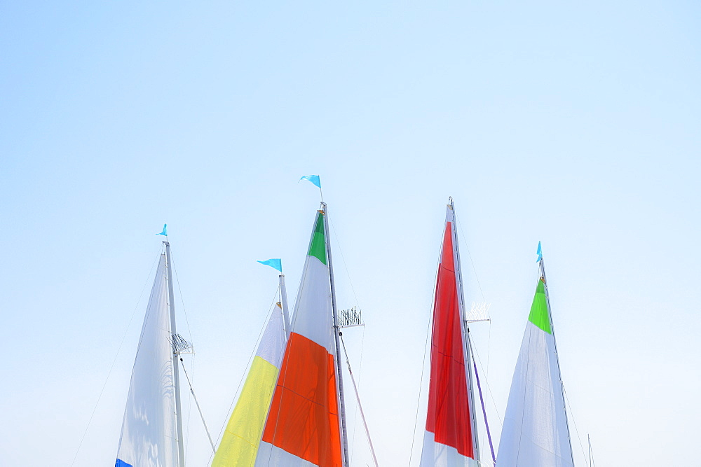 Sails against clear sky