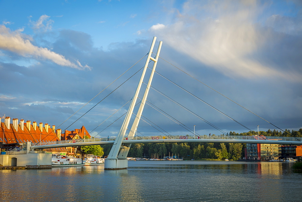 Pedestrian Bridge in Mikolajki, Warmian-Masurian, Poland