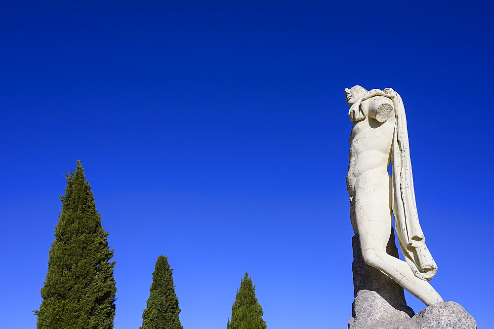 Sculpture of Emperor Trajan in Santiponce, Spain
