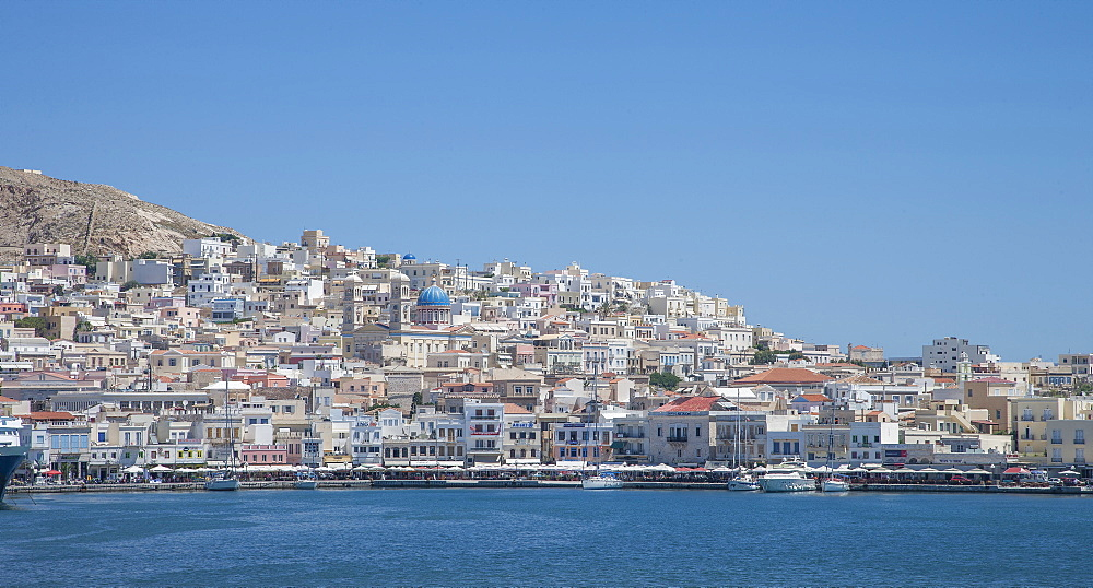 City skyline in Mykonos, Greece