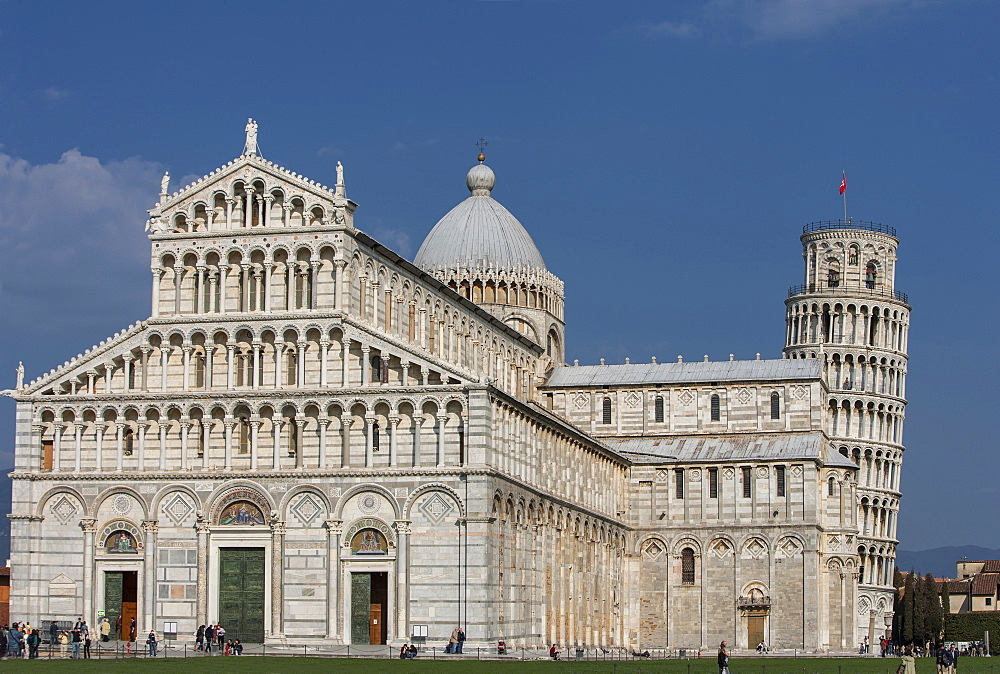 Leaning Tower of Pisa and Piazza dei Miracoli in Tuscany, Italy