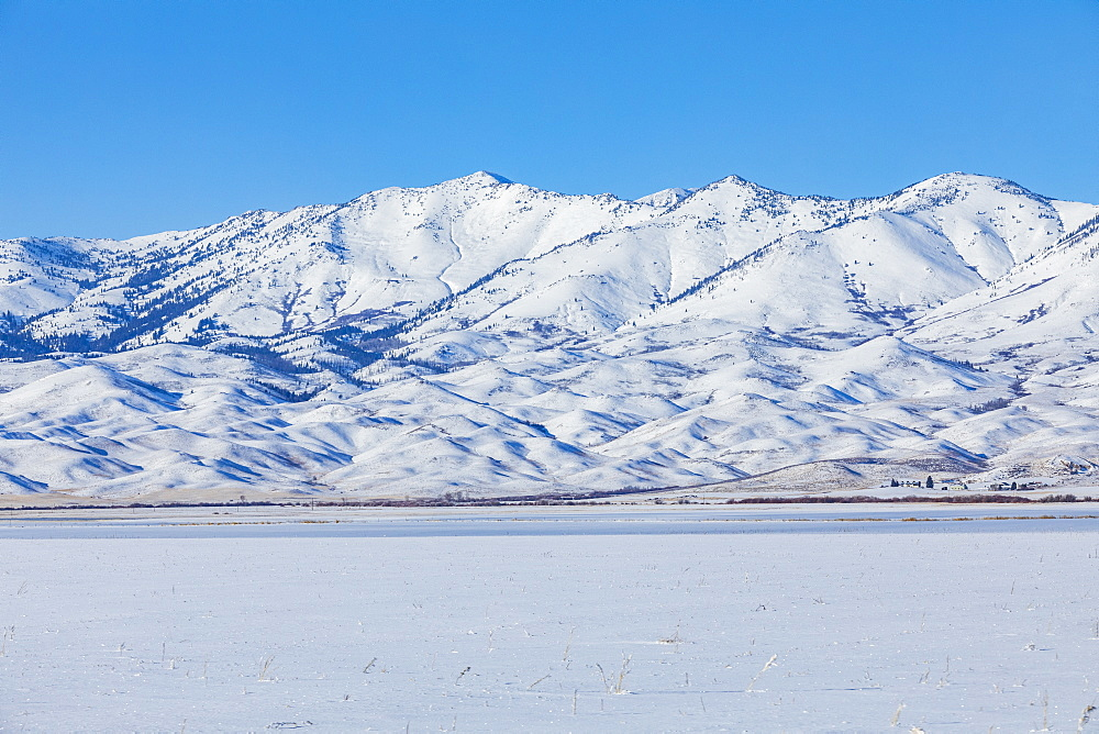 Snowcapped mountains, Fairfield, Idaho, USA
