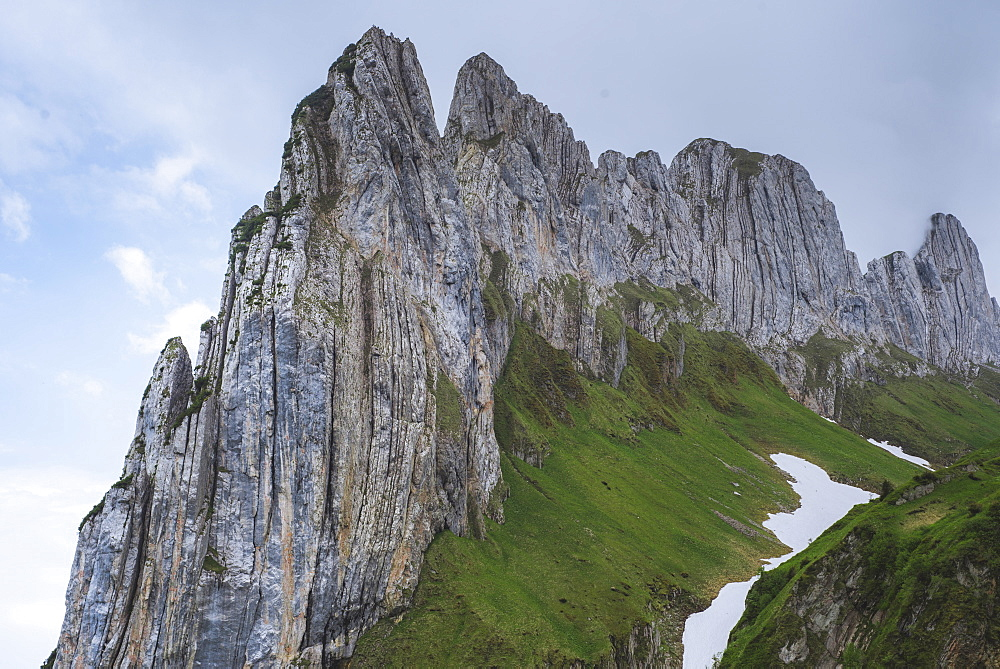 Cliff at Kreuz Mountains in Appenzell, Switzerland