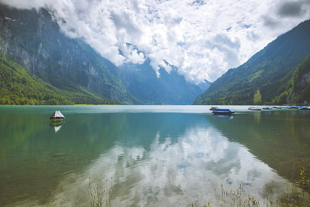 Lake and mountains in Glarus, Switzerland