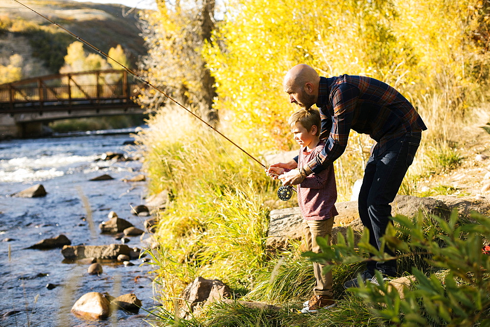 Father and son fishing together - 1178-28601