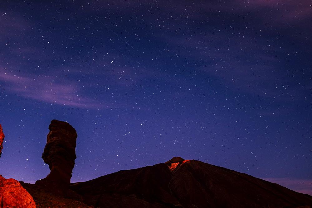 Mount Teide at night in Tenerife, Spain