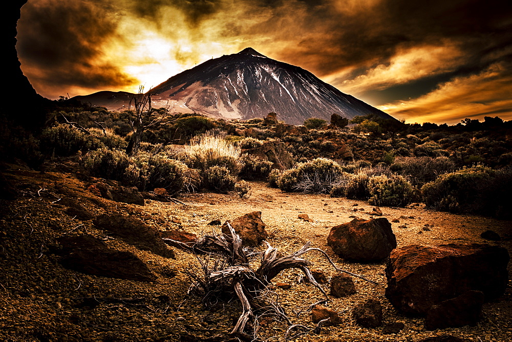 Mount Teide during sunset in Tenerife, Spain - 1178-28660