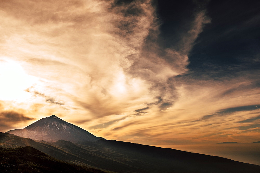 Mount Teide under clouds during sunset in Tenerife, Spain - 1178-28661