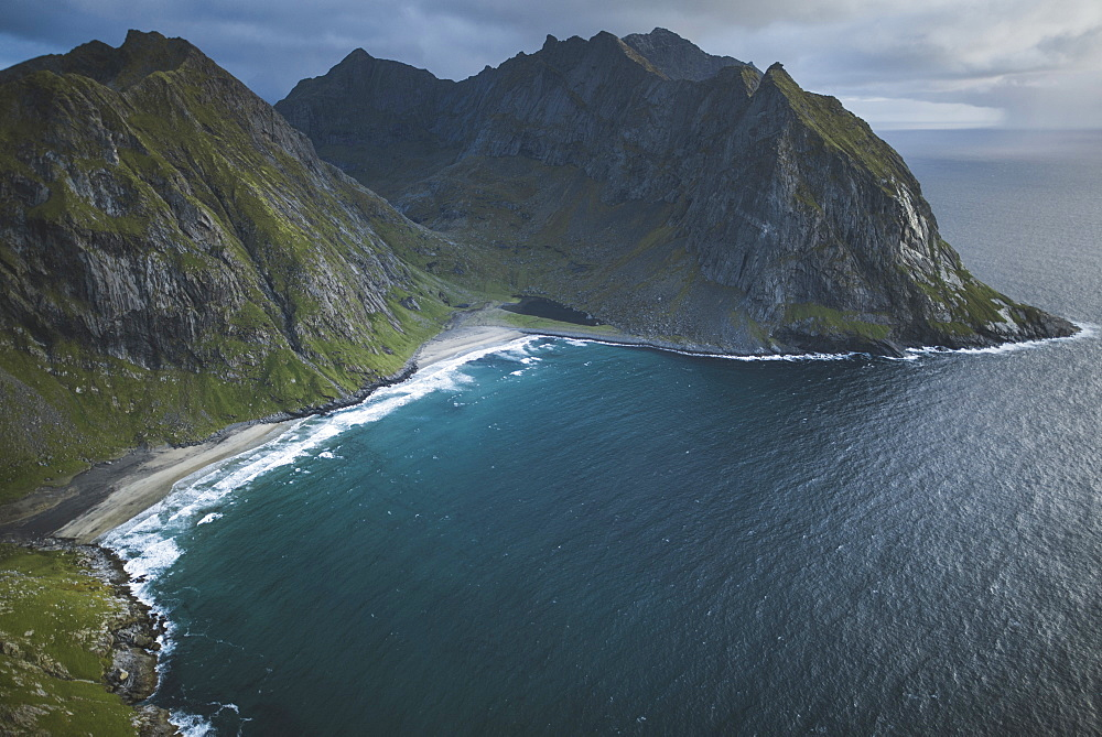 Kvalvika beach in Lofoten Islands, Norway