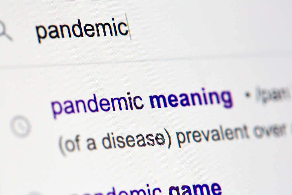 Internet search for 'pandemic'