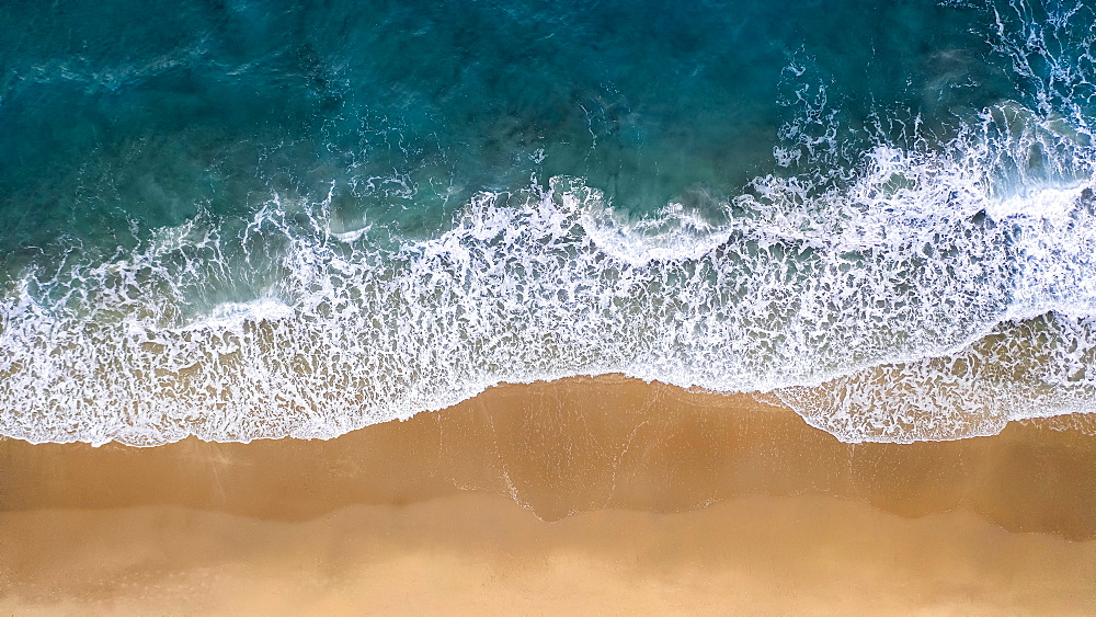 Drone shot of beach