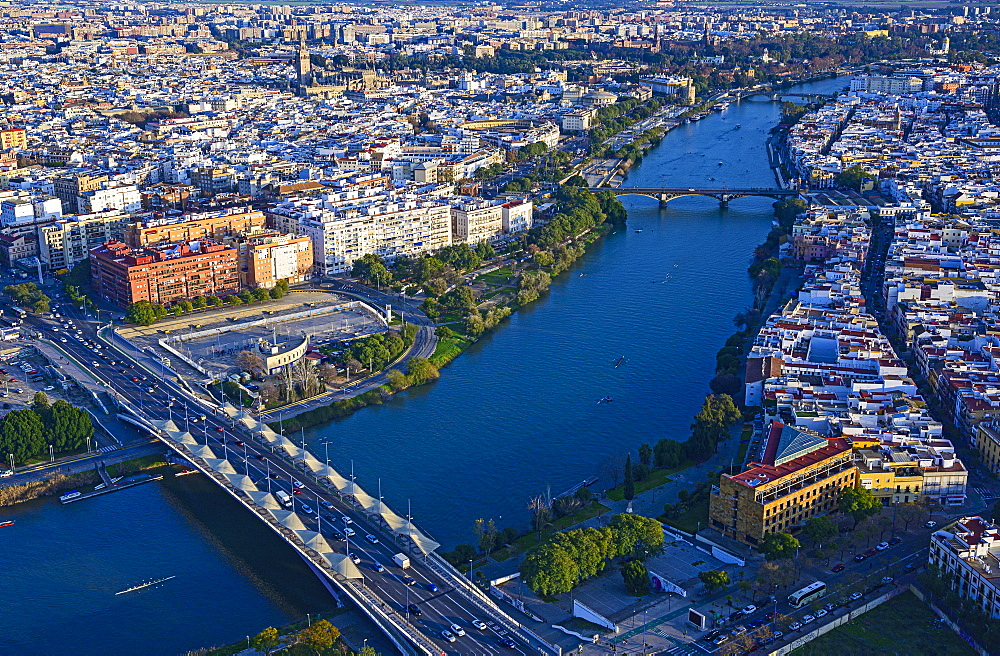 Spain, Andalusia, Seville, Aerial view of cityscape