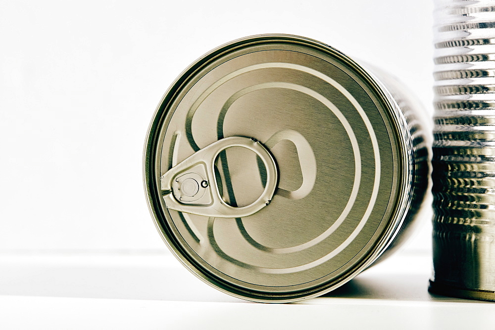 Close up of food cans