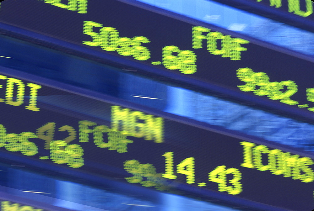 A stock transaction board