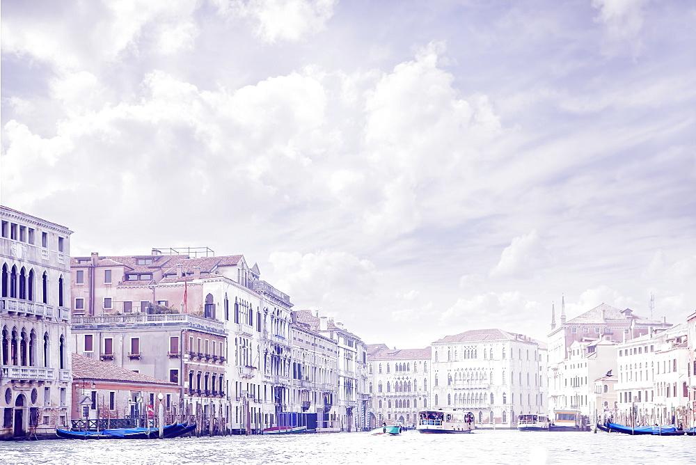 Italy, Venice, Buildings along Grand Canal