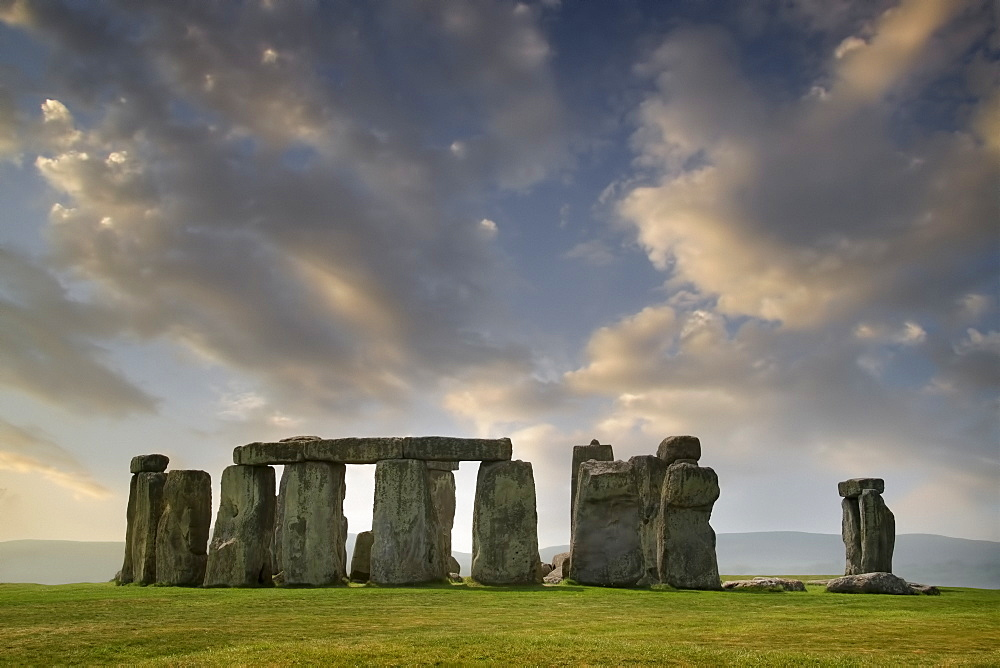 United Kingdom, England, Clouds above Stonehenge