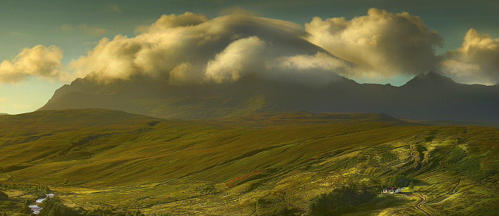 Green hills of Scottish Highlands