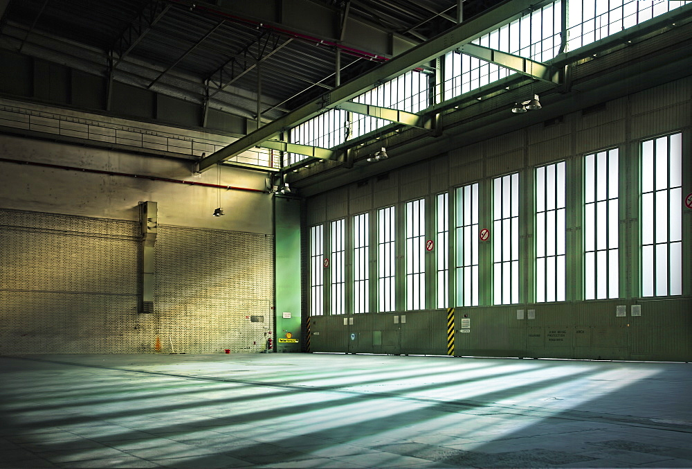 Germany, Berlin, Interior of abandoned Tempelhof Airport