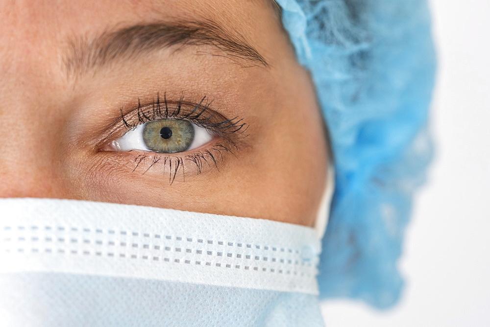 Portrait of nurse in face mask