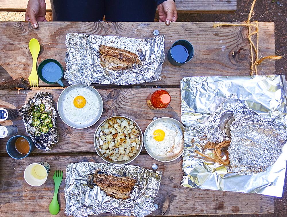 Breakfast at camping