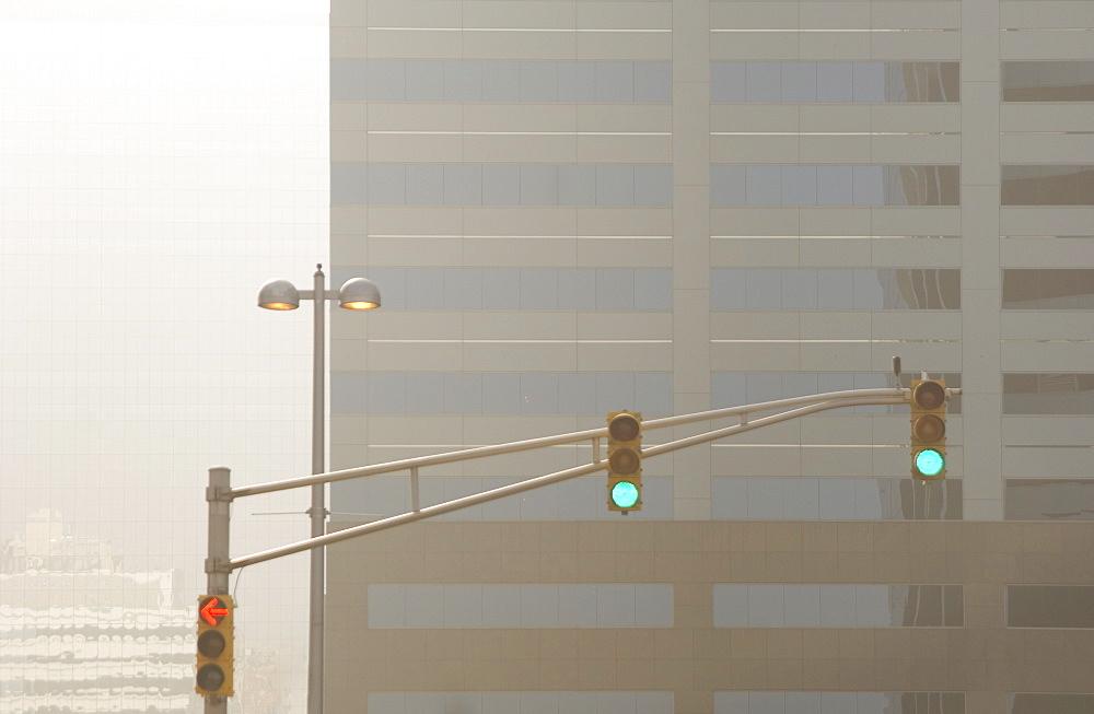 Green lights at traffic signal