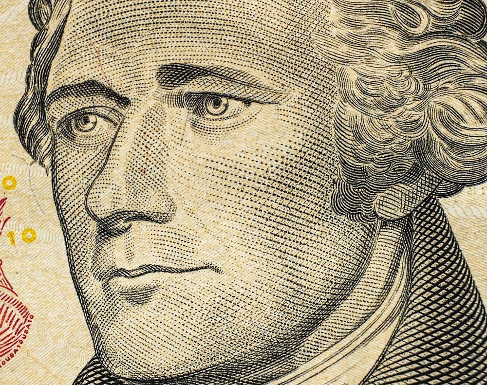 Close-up of US ten dollar bill - 1178-30052