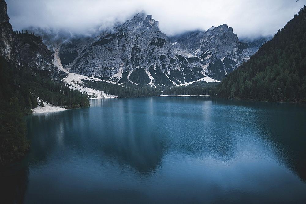 Italy, Pragser Wildsee in Dolomites