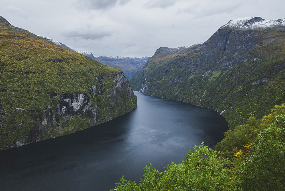 Norway, Geiranger, Scenic view of Geirangerfjord