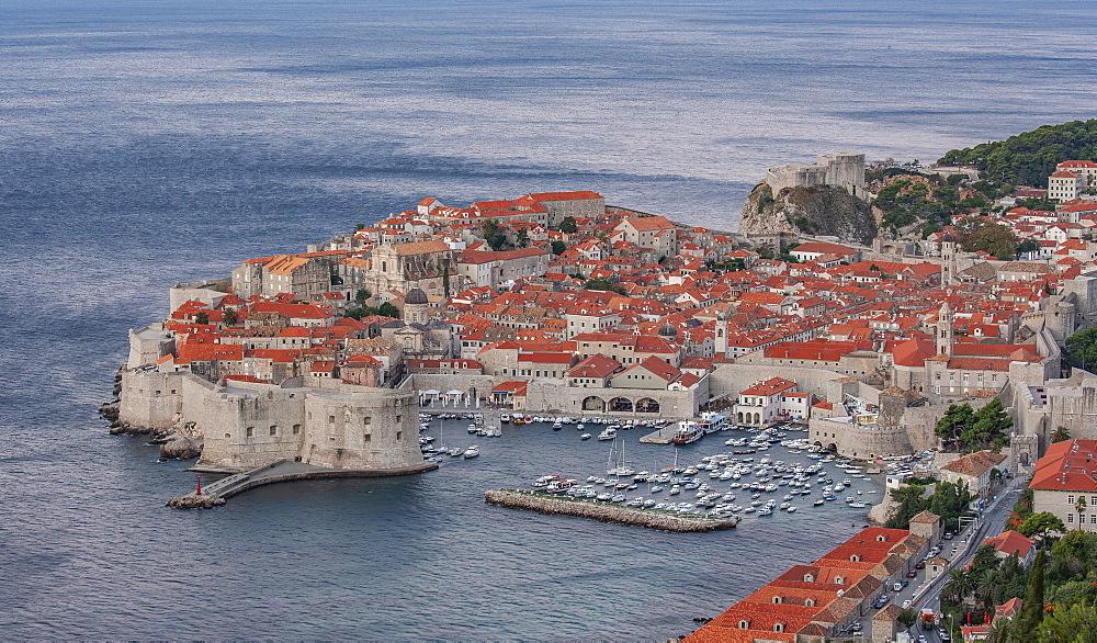 Croatia, Dubrovnik, Old town and marina