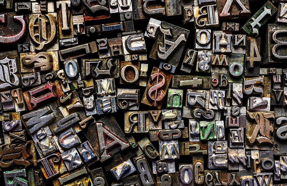 Metal type fonts - 1178-30257