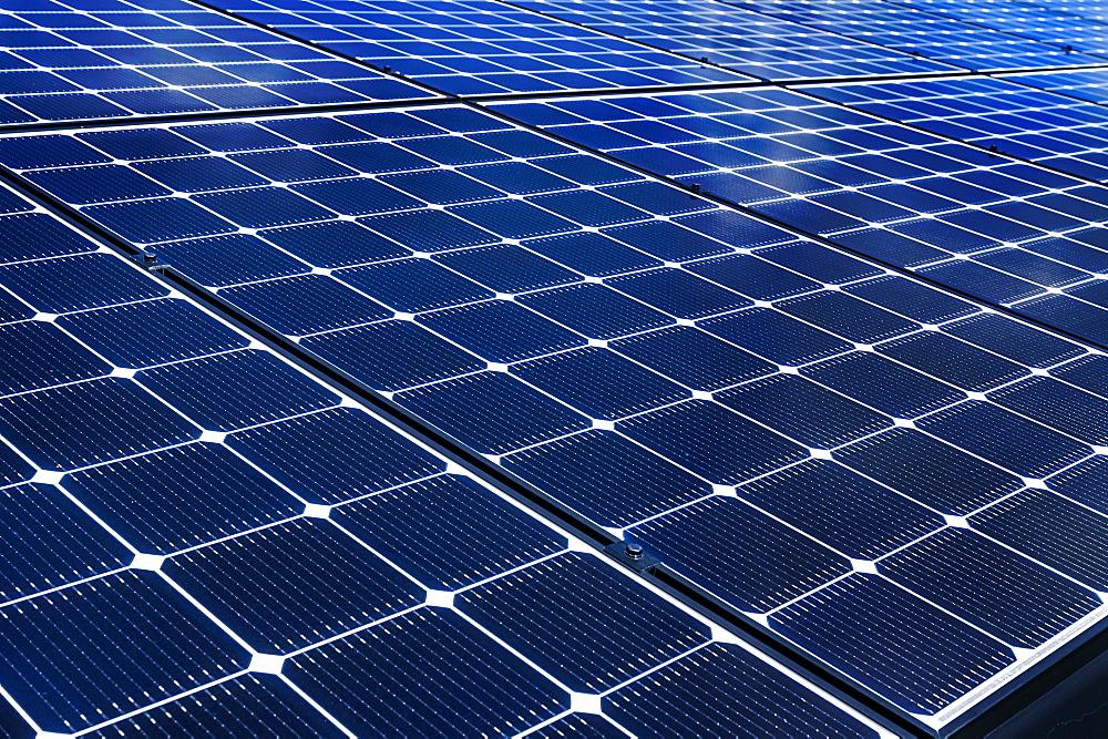 Close-up of solar panels