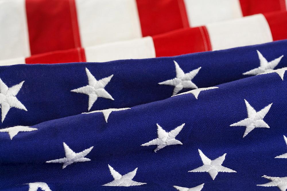 Folds of American flag