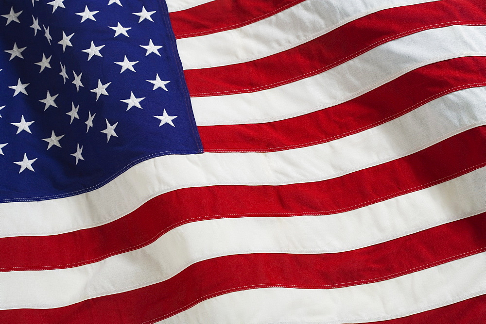 Closeup of the American flag