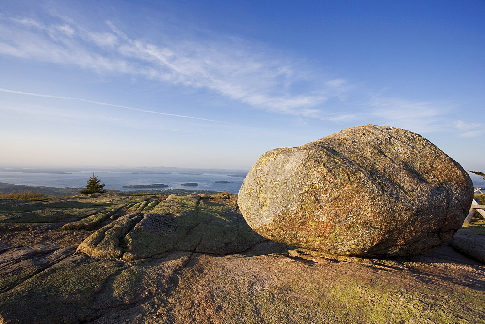 Boulder on Cadillac Mountain Acadia Maine