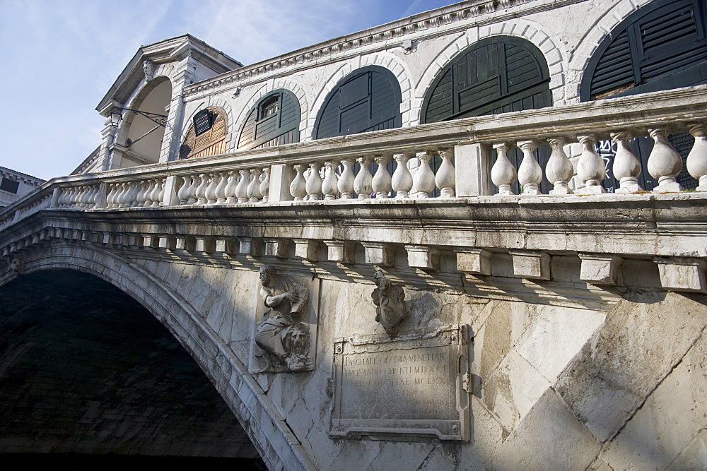 Rialto Bridge over the Grand Canal Venice Italy