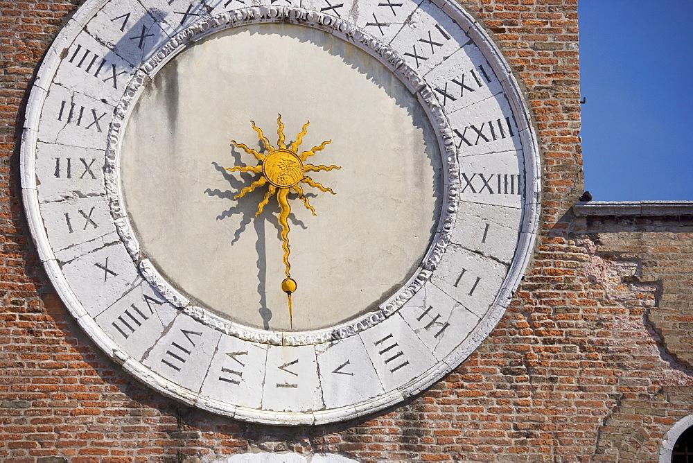 Clock of San Giacomo di Rialto San Polo Venice Italy