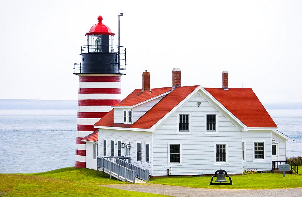 West Quoddy Head Lighthouse Lubec Maine