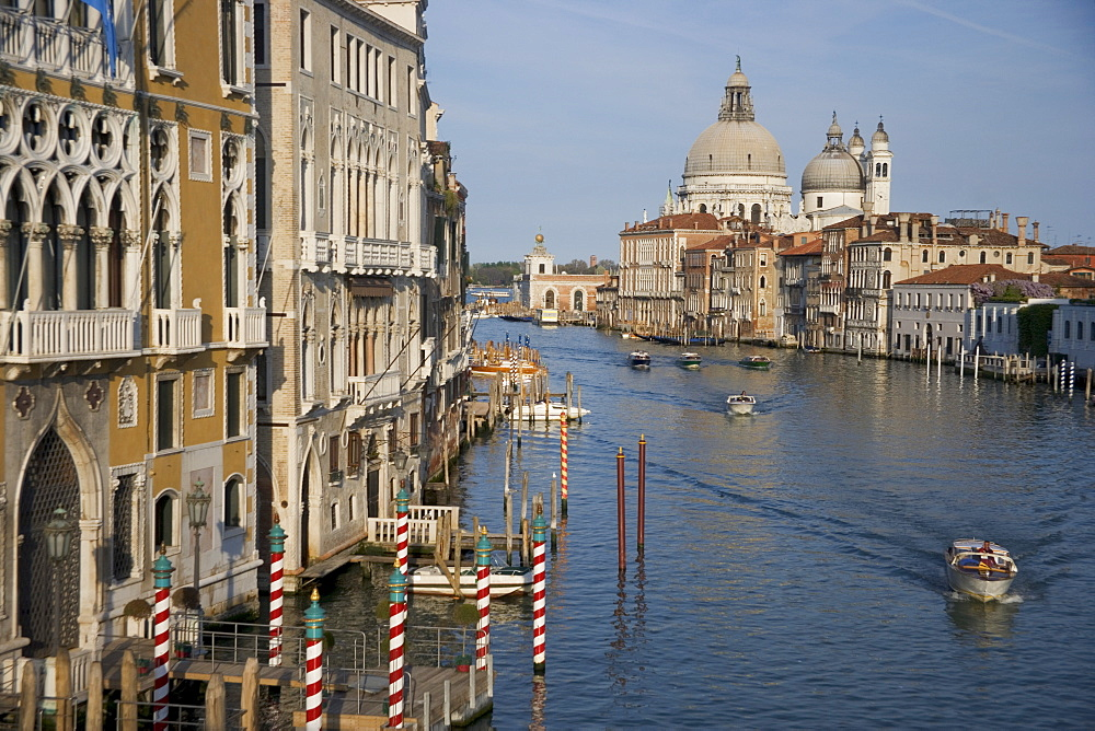 Grand Canal and Santa Maria Della Salute Church Venice Italy