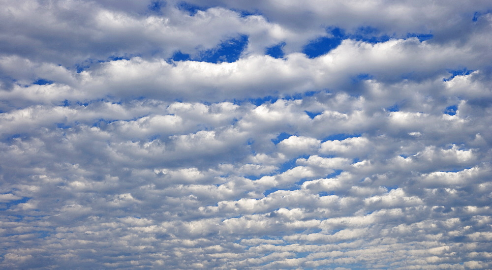 White clouds covering blue sky