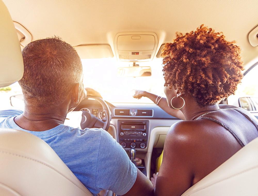 Mature couple in car