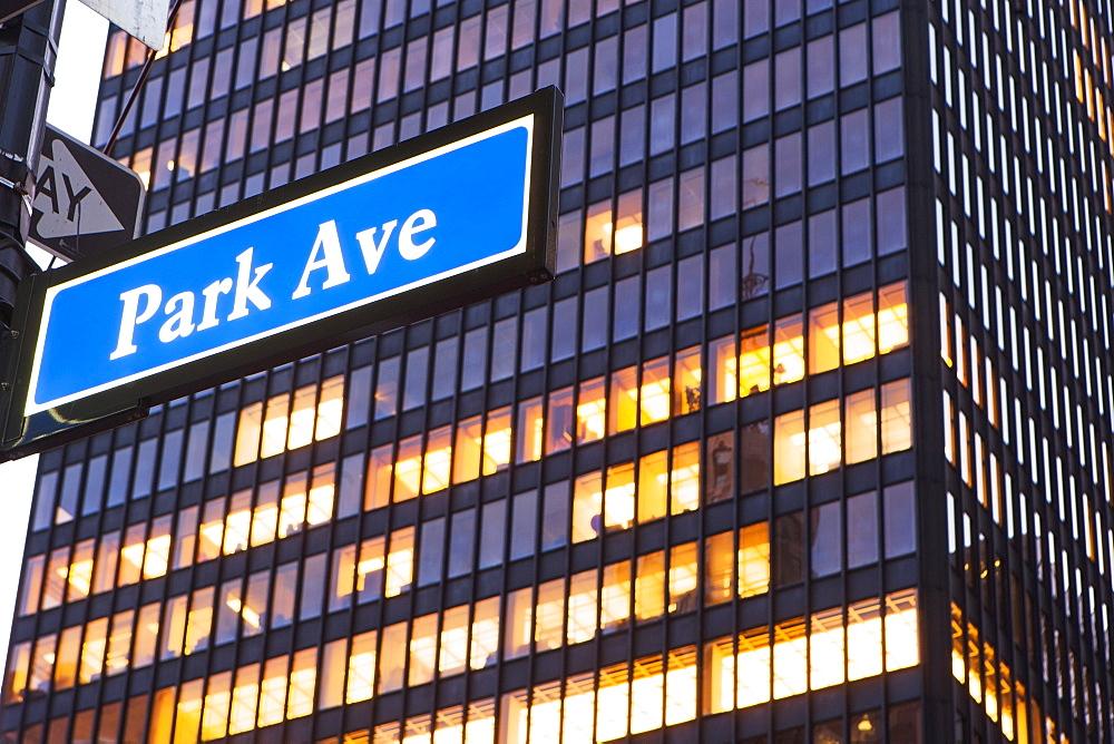 Information sign, New York City, USA