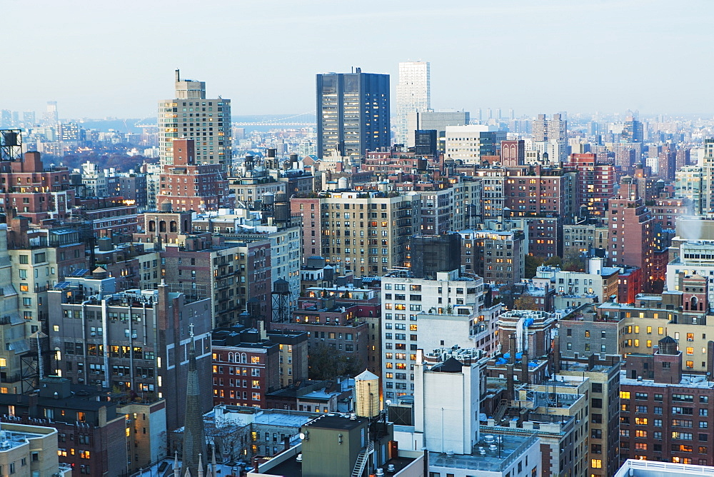 Aerial view of Manhattan, USA, New York State, New York City
