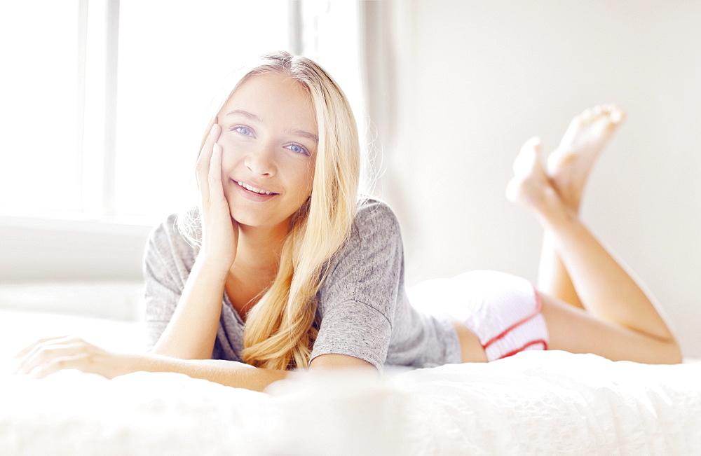 Portrait of teen (16-17) girl