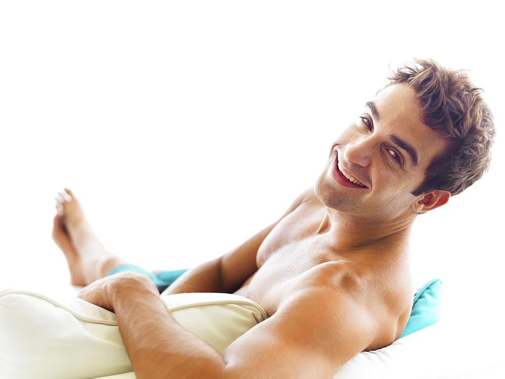 Portrait of man relaxing