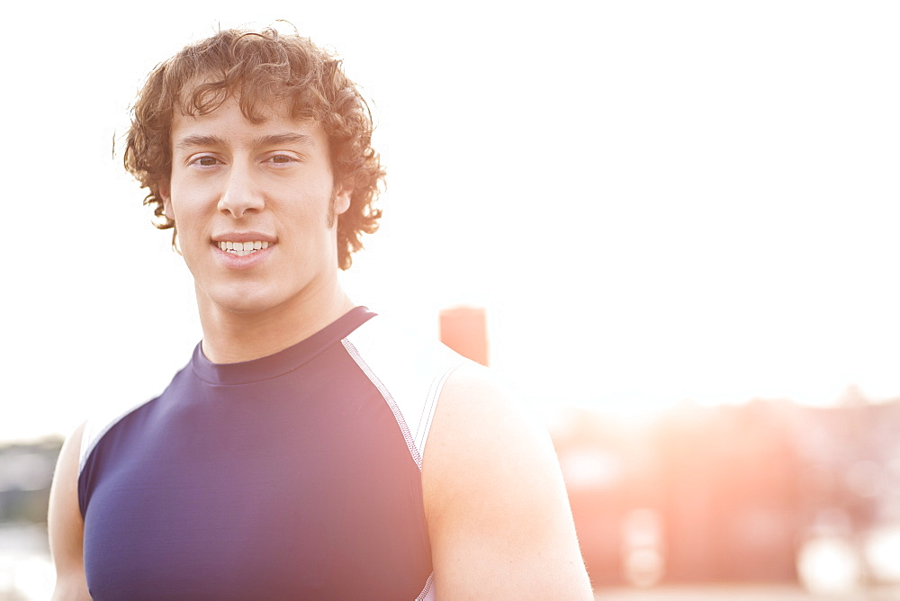 Portrait of young athlete